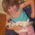 Indi with Maxen the cat